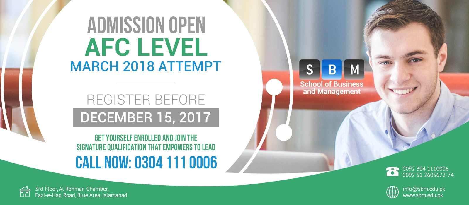 Admissions are open in AFC Level of CA for March 2018 attempt