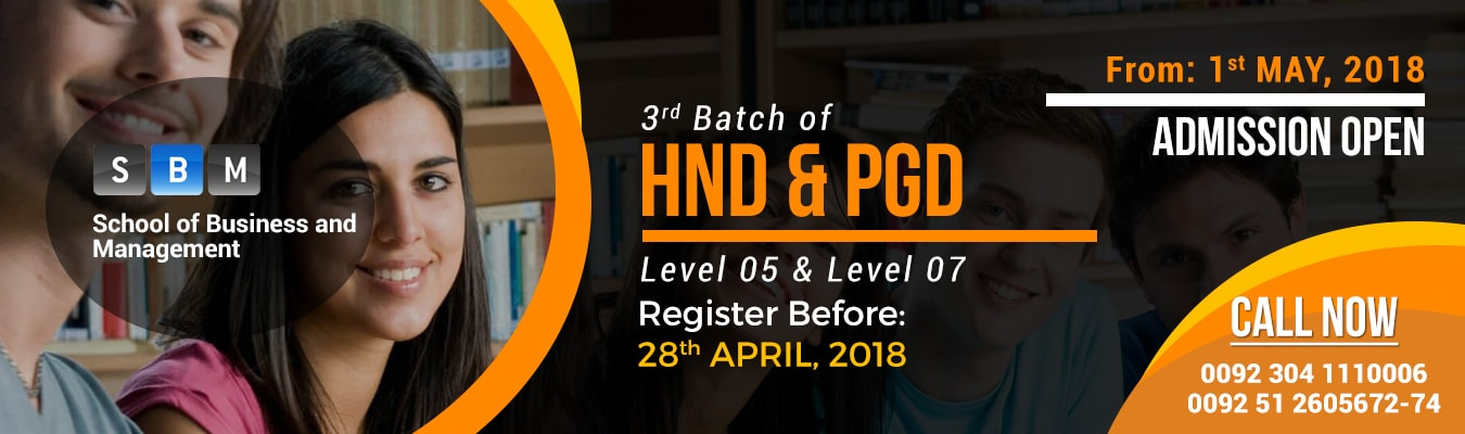 HND & PGD classes starting from 1st May, 2018