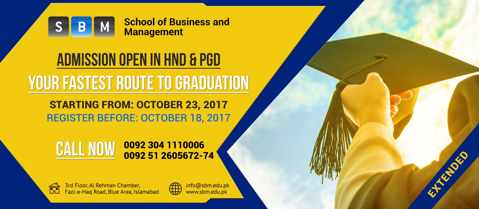 HND & PGD classes starting from 23 Oct