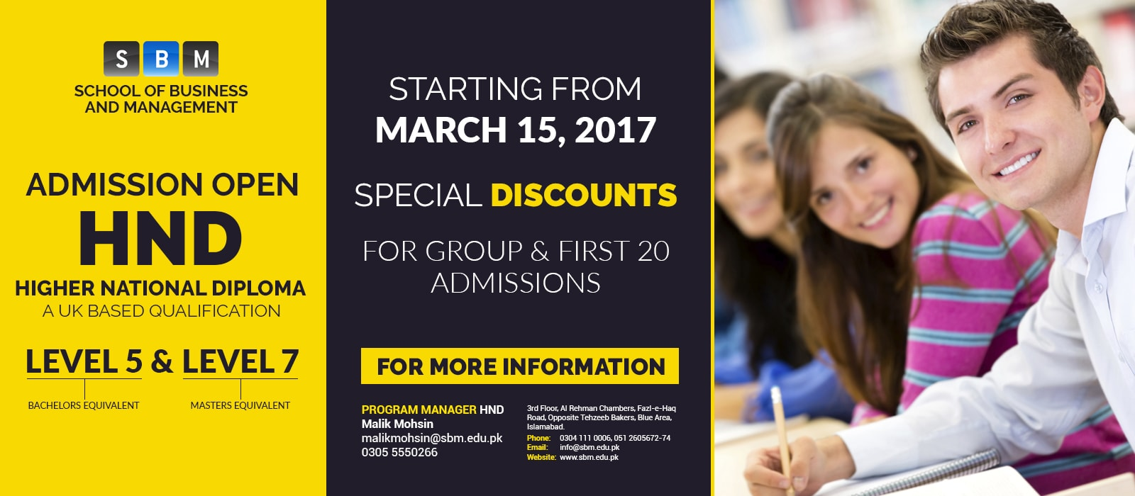 SBM Offers 1st Session of HND Starting from March 15