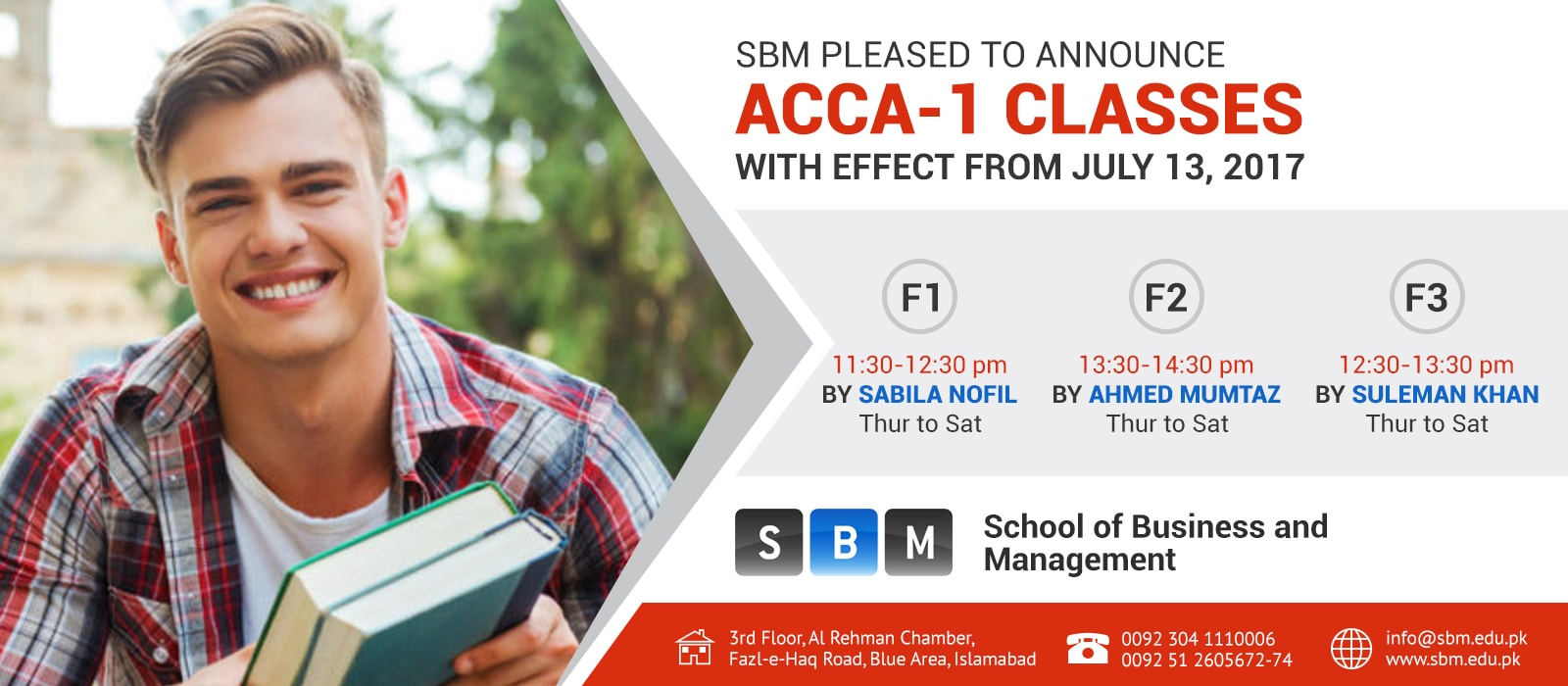 ACCA 1 classes starting from July 13, 2017