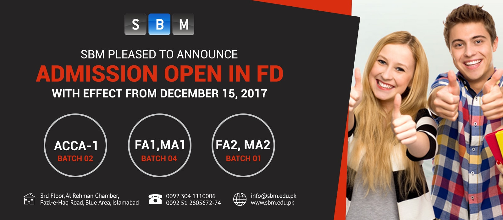 New batches of Foundation Diploma starting from 15 Dec