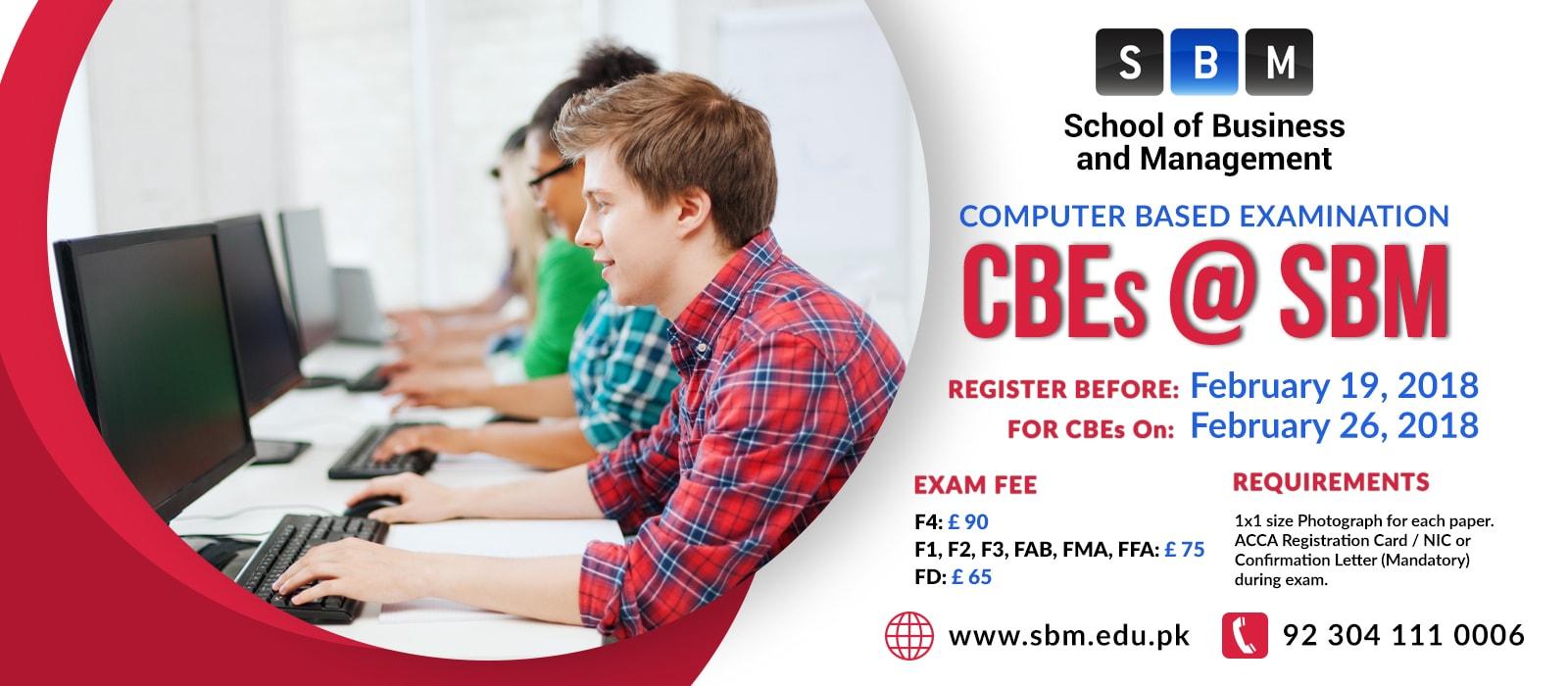 Register before 19 Feb for CBE exam on 26 Feb, 2018