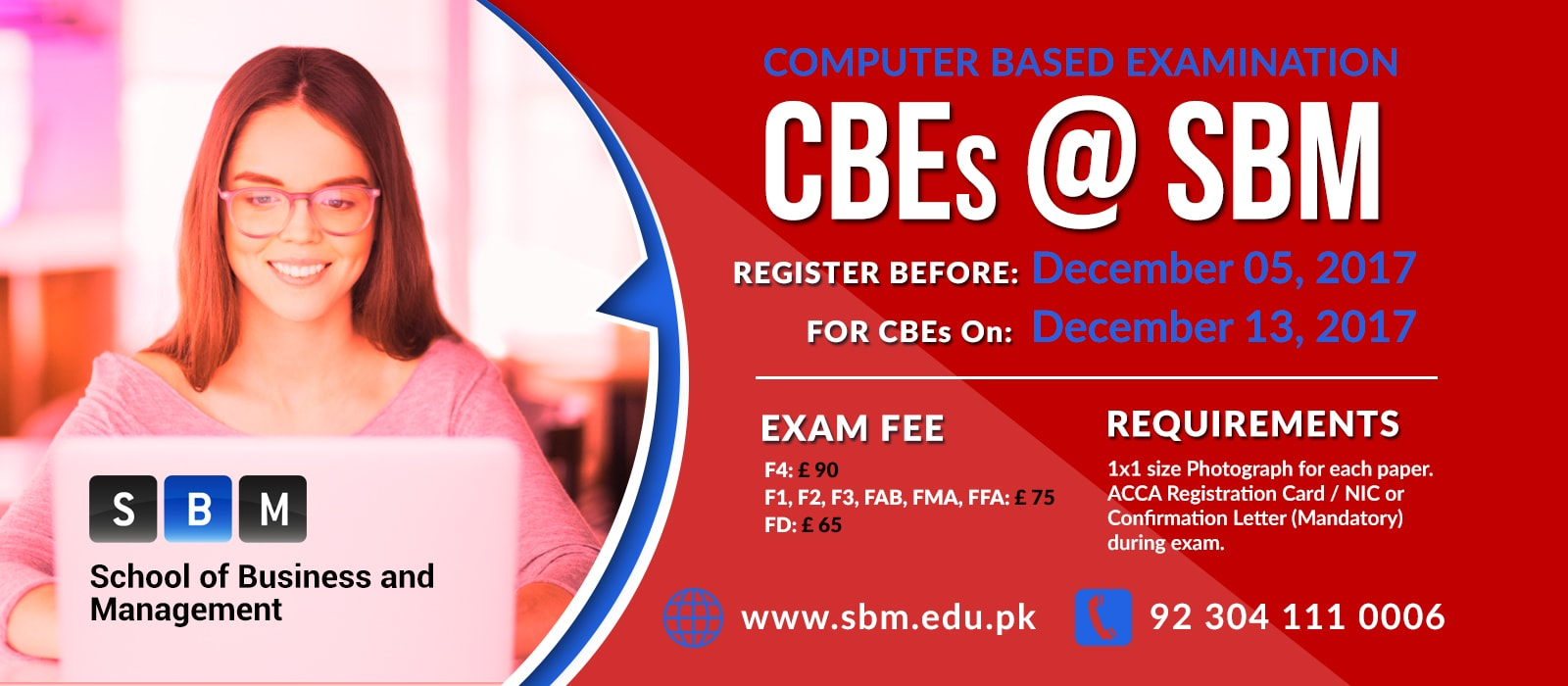 Register before 5th Dec for CBE exam on 13th Dec, 2017