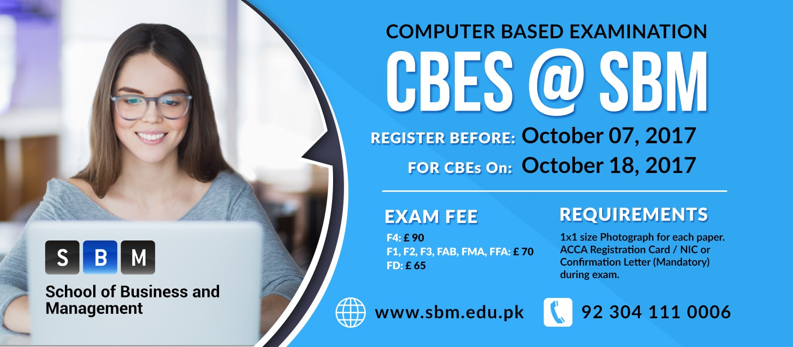 Register before 7th Oct for CBE exam on 18th Oct, 2017