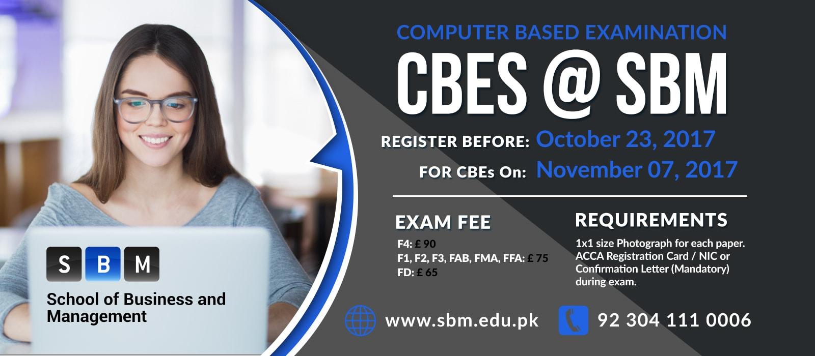 Register before 23rd Oct for CBE exam on 07 Nov, 2017