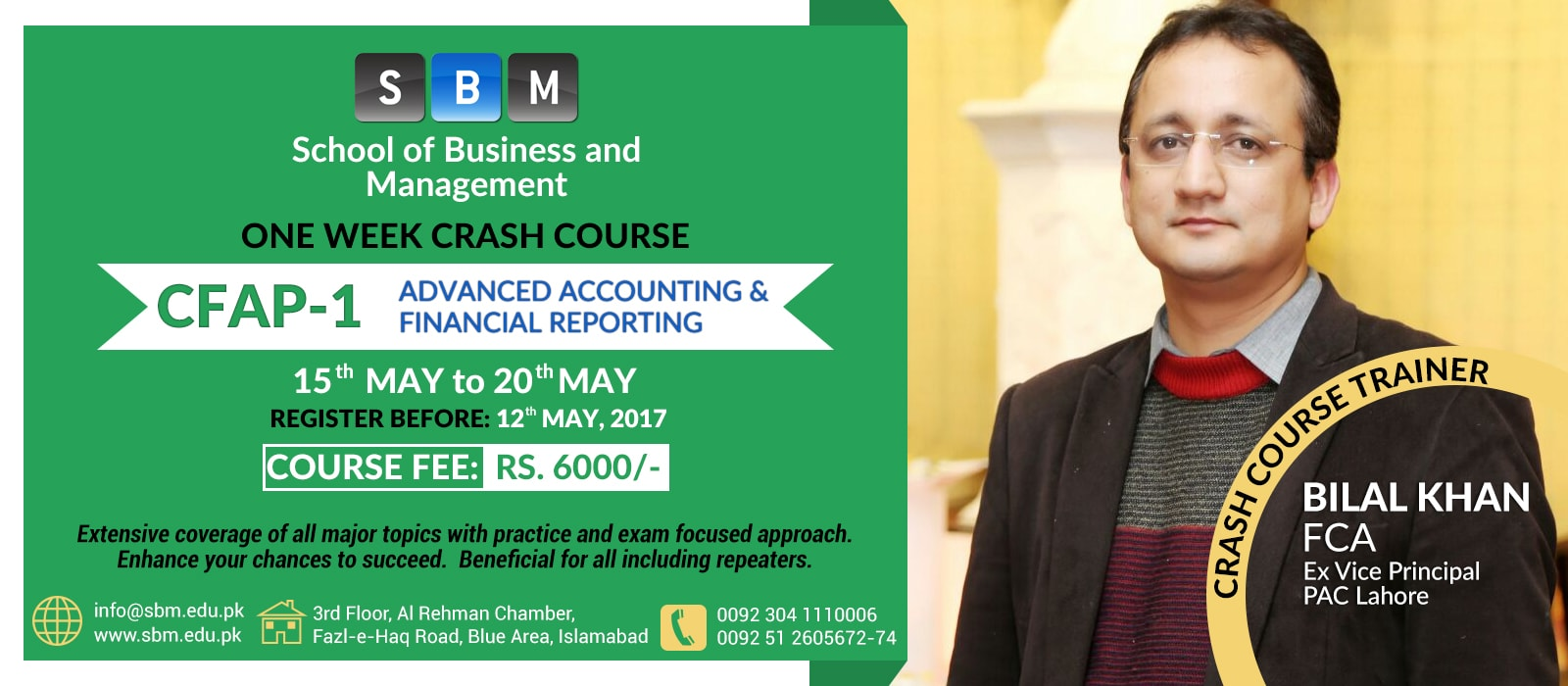 SBM is commencing Crash Course of CFAP1