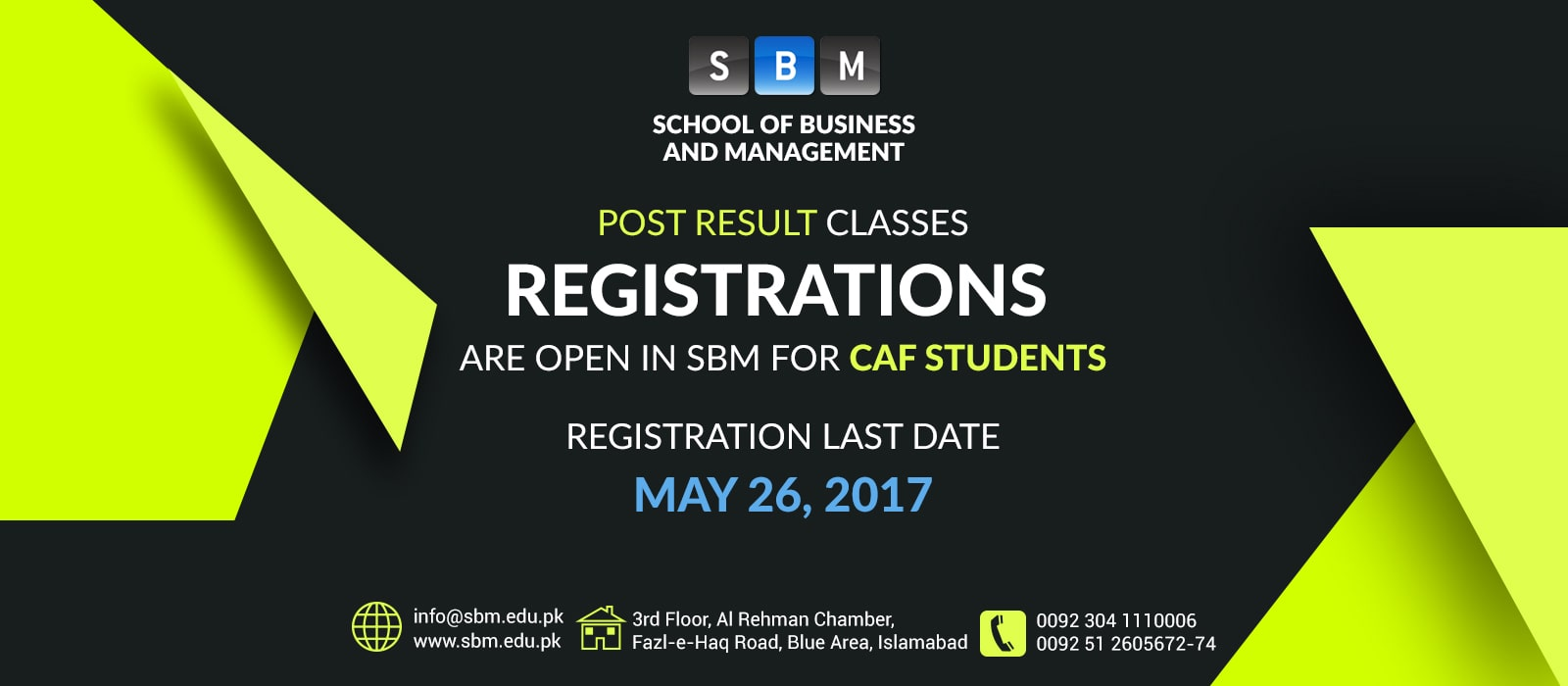Registration is open for CAF students